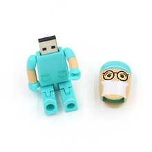 Free shipping New Year GiftS Funny Folding Doctor USB 2.0 Memory Stick Flash pen Drive 8GB 16GB 32GB 64GB