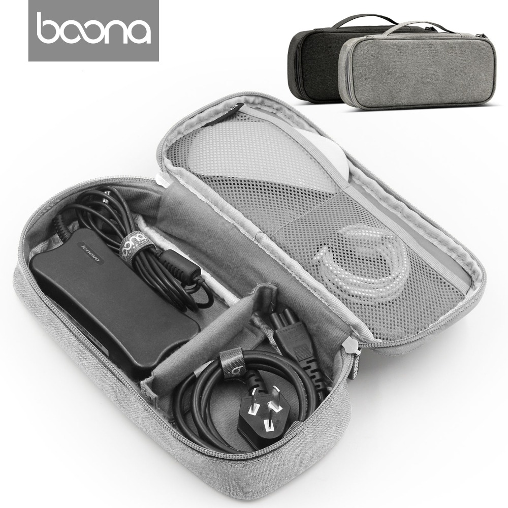 Boona  Universal Electronics Accessories Travel bag / Hard Drive Case / Cable organizer/ Protective Sleeve Pouch Case Bag electronics