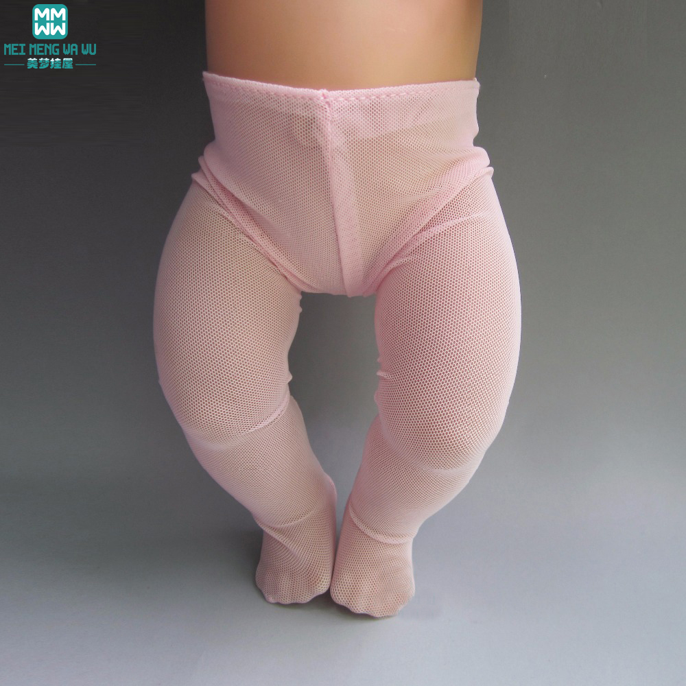 Fashion Pink tights Fit 43cm Zapf Baby Born Christmas Gift Doll Accessories Колготки