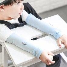 1 пара однотонных солнцезащитных рукавов для детей; летняя одежда для мальчиков и девочек с рукавами для защиты от солнца; нарукавник для защиты от УФ-лучей для детей