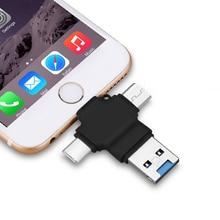 רב ב 1 TF כרטיס מיקרו SD כרטיס קורא עבור אפל סוג C OTG טלפון נייד כרטיס קורא עבור אנדרואיד ברקים סוג C יציאת