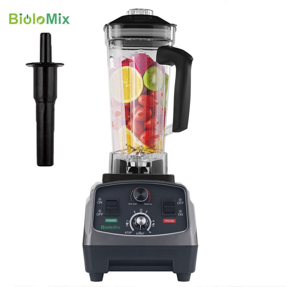 Profissional 3HP Temporizador Automático Misturador Liquidificador Processador de Alimentos Espremedor de Frutas Gelo Smoothies Fabricante 2L BPA Jar Livre 2200W