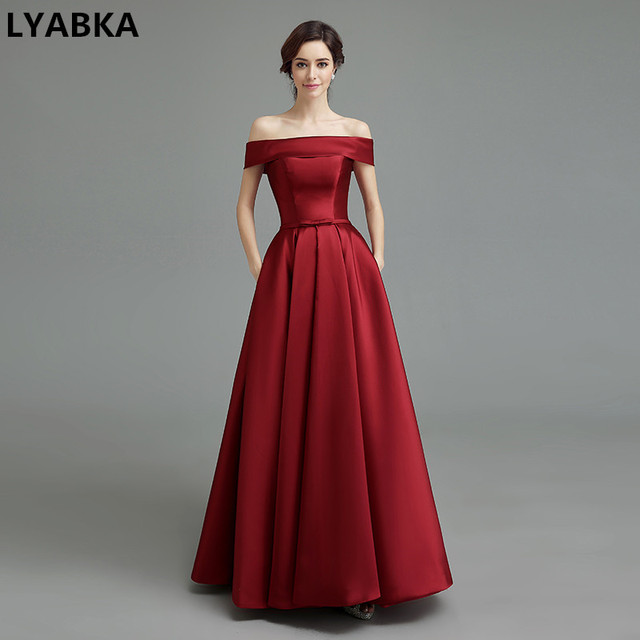 Boat Neck Evening Dresses
