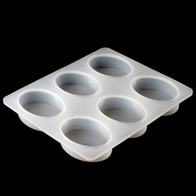 Nicole Oval Soap Silicone Mold 6-Cavity Ellipse Handmade Chocolate Making Mould