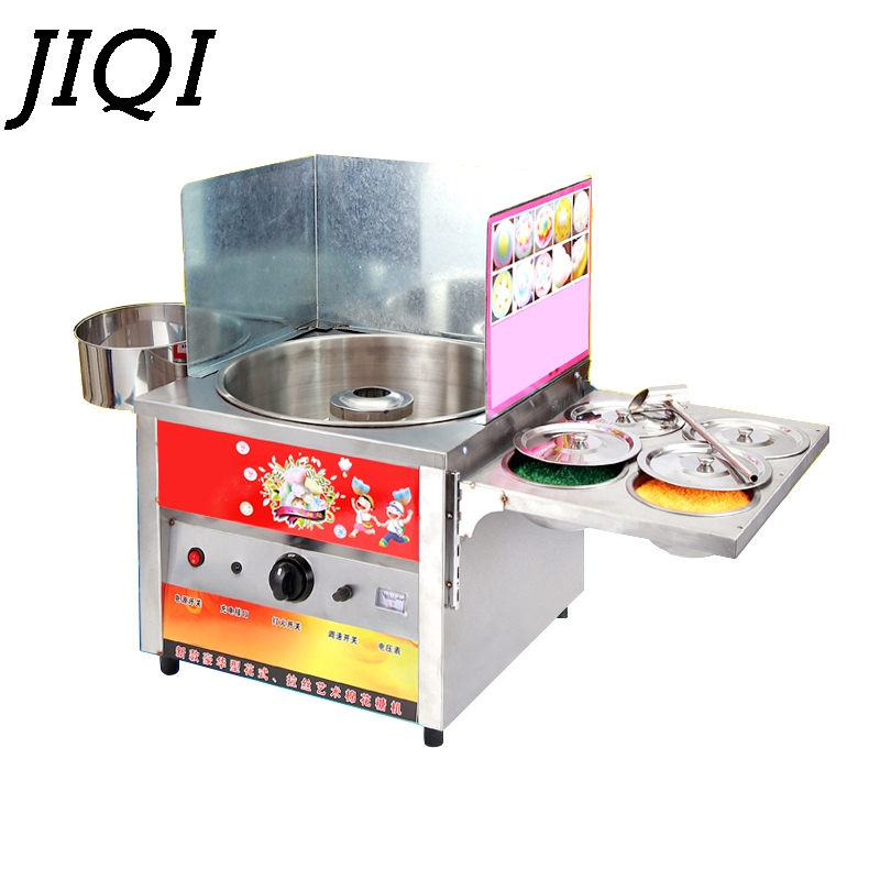 JIQI fantaisie Commerciale gaz utiliser doux cotton candy maker barbe à papa coton fil de sucre machine collation équipements enfants kid