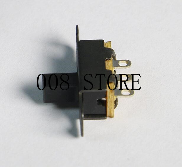 20pcs/lot 3 Pin 2 Position Black Mini Size SPDT Slide Switches On-Off PCB DIY Material Electrical Tools Solder Lug SS12F15