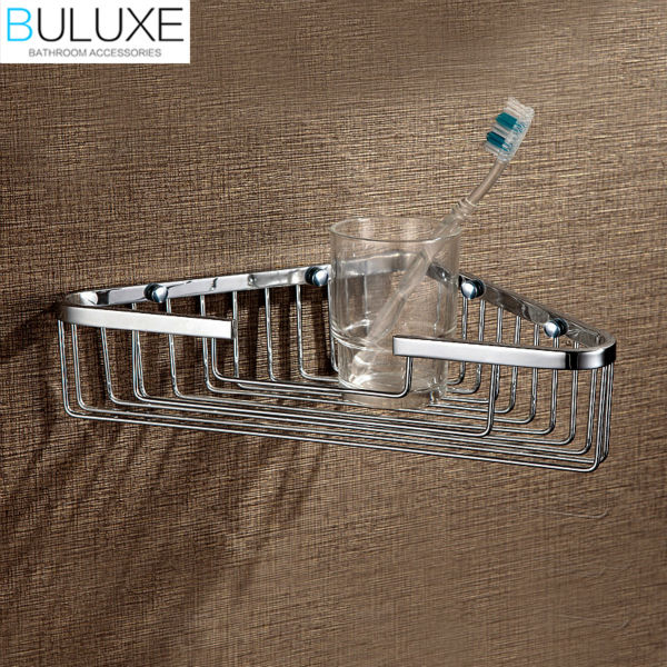 BULUXE Bathroom Shelf Bath Shampoo Tri-angle Basket,Wall Mounted Bath Corner Shelf Shower Caddy Storage Holder HP7726 shp110 compatible projector lamp bulb 030wj for sharp xr 40x xr 30x xr 30s free shipping 180 days warranty