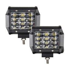 Pcs LED Luzes Pod 4 2 polegada 4D 36 w LEVOU Trabalho barra de Luz de Condução Luz de nevoeiro para o Caminhão Fora estrada Jeep UTV 4WD 4×4 Pickup SUV Boat