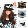 2016 Girls' Cat Ear Hip-hop Flat-brimmed Hat Cap Adjustable Baseball Cap Snapback 8O34
