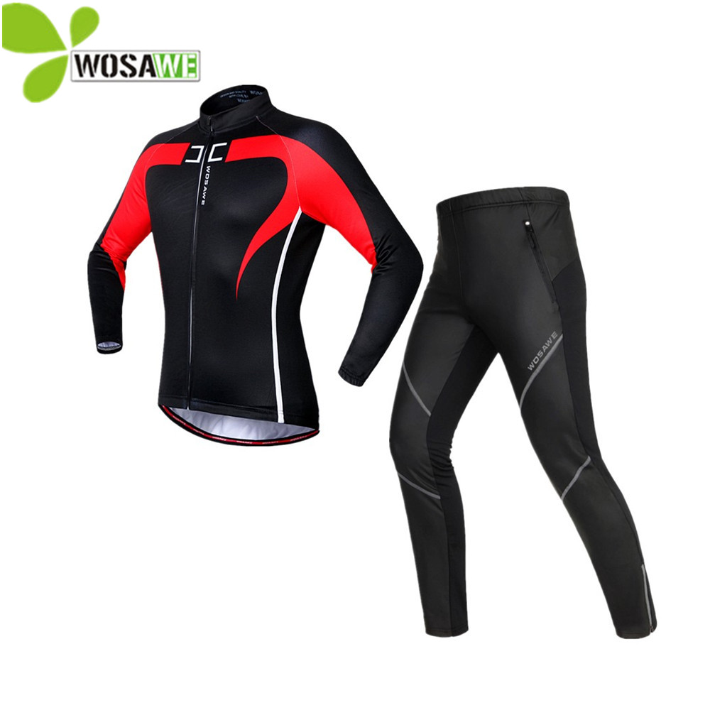 WOSAWE unisex cycling sets jerseys ciclismo thermal fleece PU pants coat windbreaker bike bicycle clothes cycling clothing wosawe waterproof cycling jersey cycling rain jacket wind coat bicycle clothing ciclismo mtb bike cycle raincoat