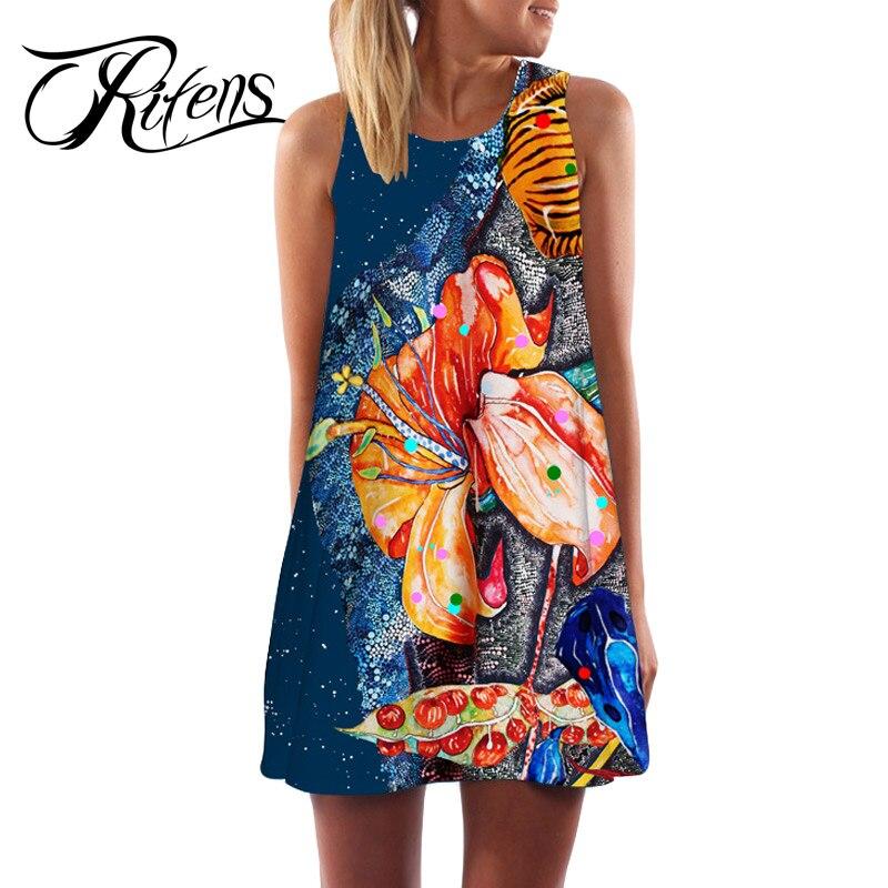 Urifens Vestidos Verano 2018 Casual Loose Sleeveless Sexy Tank Boho <font><b>Dress</b></font> Women Vintage <font><b>Tribal</b></font> Print Ukrain Summer <font><b>Dresses</b></font> LS15