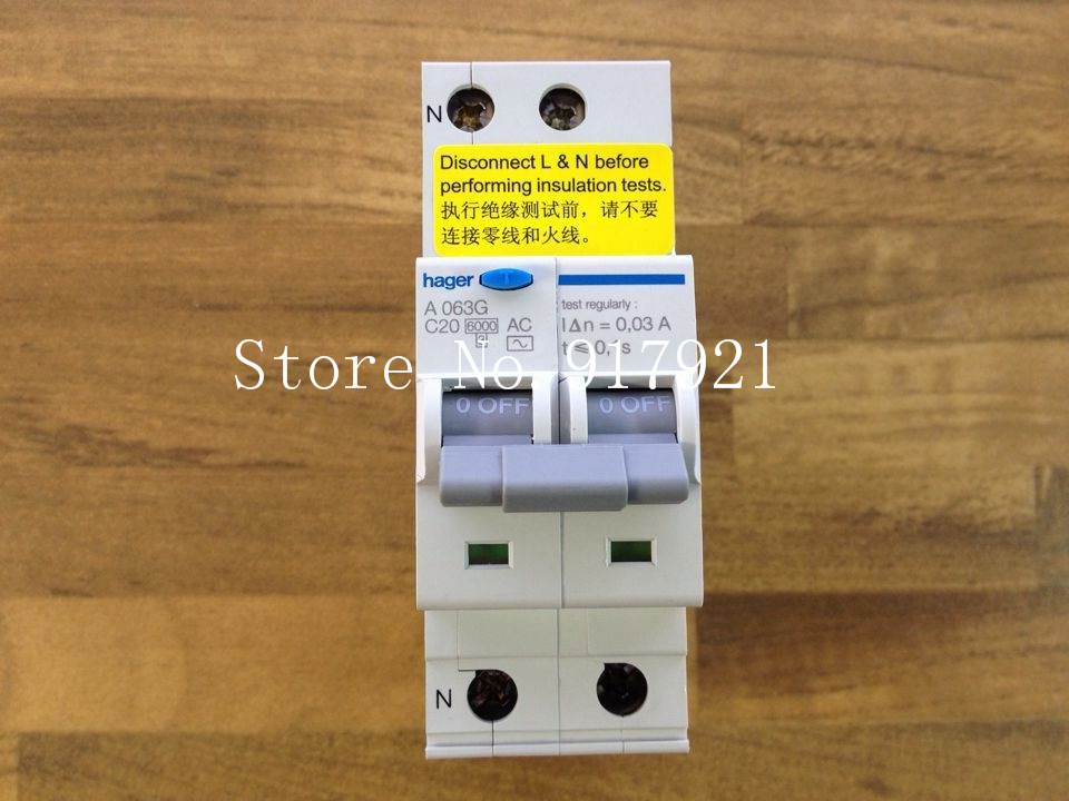 [ZOB] (store) ORIGINAL A063G 2P20A France Hagrid leakage and overvoltage protection circuit breaker 30MA  --5pcs/lot [zob] original original of france lc1d50 220v 80a genuine original ac contactor 2pcs lot