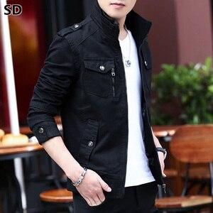 Image 1 - Jaquetas de bombardeiro masculino 2019 primavera outono jaquetas e casacos nova moda outerwear windbreakers para homem manteau homme 698