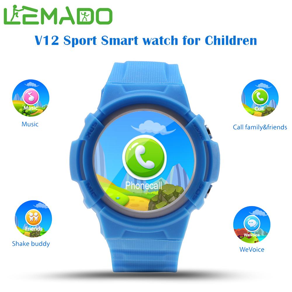 Prix pour Lemado GPS montre intelligente bébé montre V12 OLED Grand écran Appel D'urgence Dispositif de Localisation Tracker pour Kid Safe Anti-perdu Wirstwatch