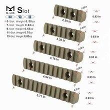 Tacitcal черный M-LOK 3-5-7-9-13 слотов(5 шт в 1 упаковке) рельсовая планка для наружного охотничий как в CS Wargame Scope Mount