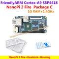 FriendlyARM S5P4418 Quad Cortex-A9 NanoPi 2 Fire (400 МГц ~ 1.4 ГГц, 1 ГБ DDR3 RAM) Демо доска + теплоотвод + Корпус = NanoPi 2 Fire Пакет C