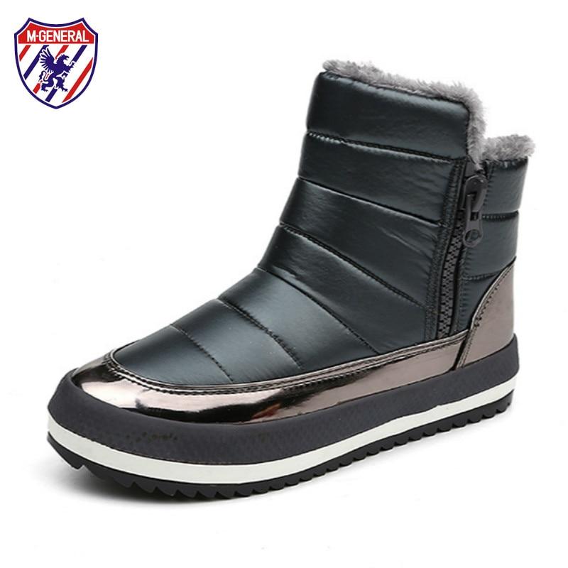 купить Women Snow Boots 2018 New Trending Style Waterproof Female Winter Boots Plush Inside Botas Mujer Bota Femininas De Inverno 35-40 по цене 1685.66 рублей