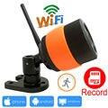 Câmera ip 720 p wi-fi apoio micro sd registro ao ar livre sem fio à prova d' água cctv sistema de segurança ipcam wi-fi cam de vigilância em casa