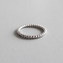 100% 925 sterling silver 2mm beads rings for women fine jewelry, fashion finger ring best friends gifts jewellery