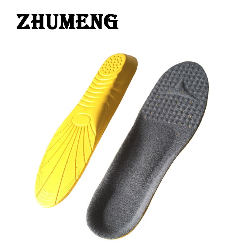 ZHUMENG EVA Sport Insoles Shock Absorption Pads Running Shoes Inserts Breathable Insoles Foot Health Care for Men and Women kelme 2016 new children sport running shoes football boots synthetic leather broken nail kids skid wearable shoes breathable 49