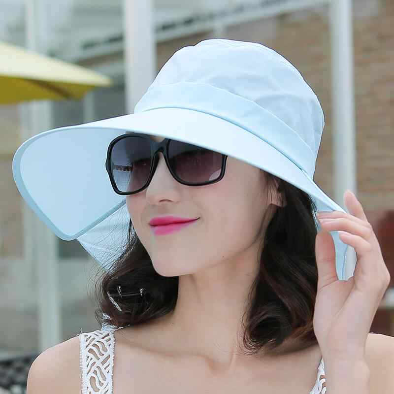 14c8700766f ... BINGYUANHAOXUAN 2018 New Brand Women Sun hat Summer Hat Folding  Sunscreen Anti-uv big Summer ...