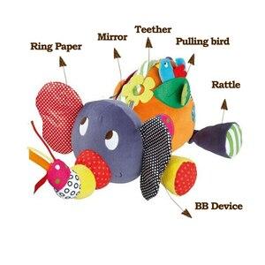 Image 3 - תינוק צעצועי 0 6 12 חודשים קטיפה פיל צעצועים חינוכיים עבור תינוק בנים 1 שנה כדי לתלות במיטה עגלת