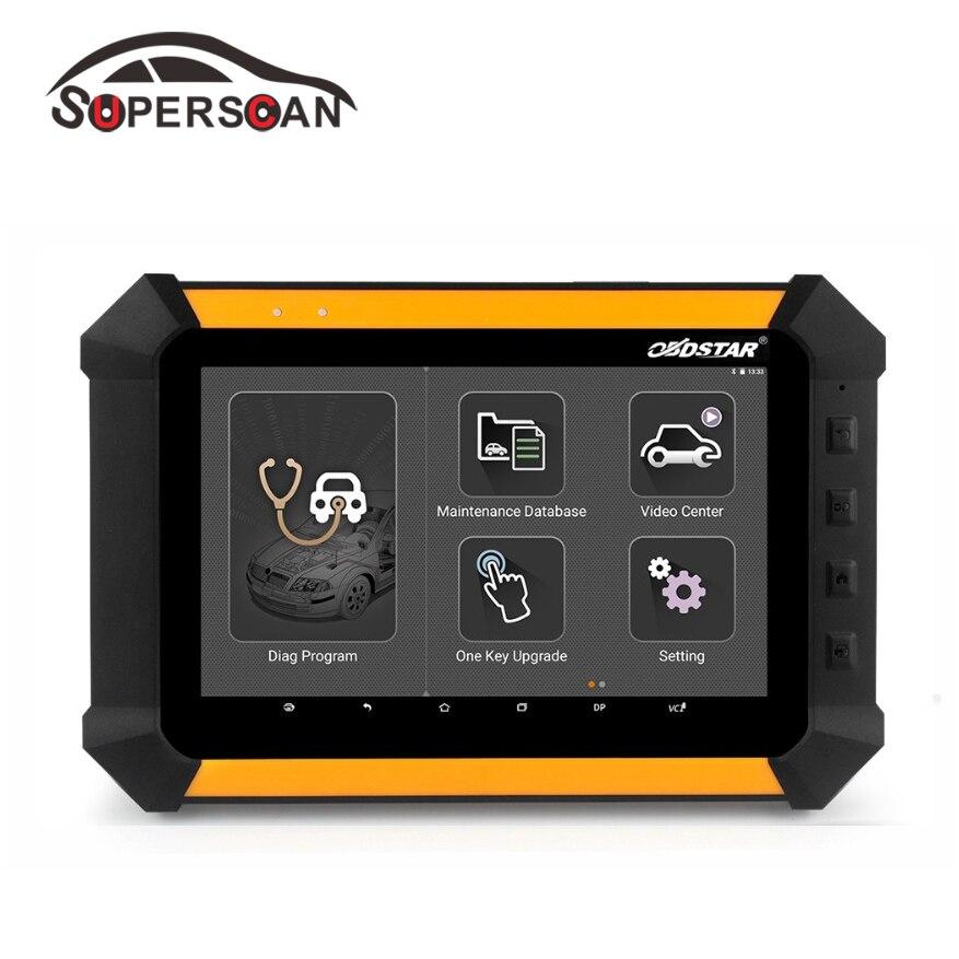 Prix pour 100% D'origine OBDSTAR X300 DP PAD Auto Diagnostic Clés Programmeur Avec Immobilisation + Kilométrage Réglage + EEPROM Outil De Diagnostic