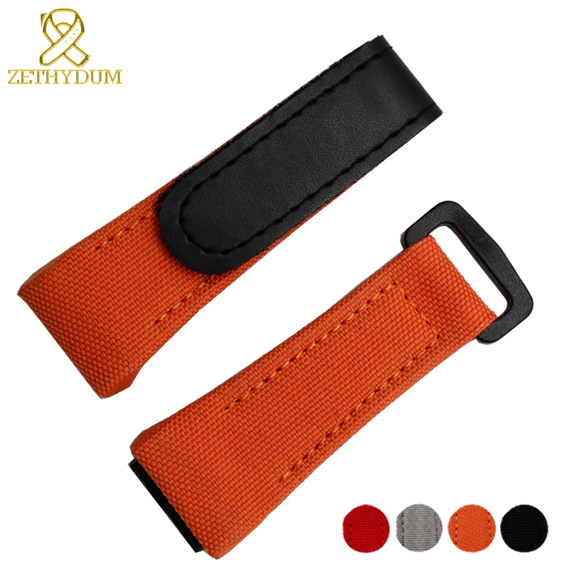 Nylon Watchband Canvas Watch Bracelet 27mm Wristwatches Band Bottom Is Genuine Leather Watch Strap For RM011 RM3502 RM056