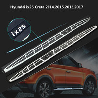 For Hyundai ix25 2014.2015.2016.2017 Car Running Boards Auto Side Step Bar Pedals High Quality Circular particle model Nerf Bar