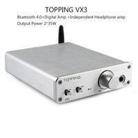 Amplifiers TOPPING VX3 Class D TPA3116D2 Digital Audio Headphone AMP HiFi Power Stereo Amplifier Wireless Bluetooth