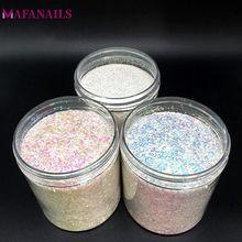 3 farben Holographische 10 ml/Box Nagel Glitter Pulver 3 Größe (0,2mm & 0,4mm & 1mm) schillernden Nagel Pulver Staub Glitter Nagel Dekoration 10g