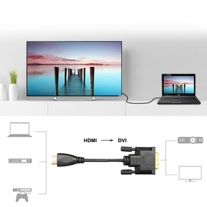 Image 3 - Felkin HDMI to DVI Cable HDMI to DVI DVI D 24+1 Pin Adapter Cable 1080P 3D Video Converter HDMI Cable for LCD DVD HDTV XBOX PS3