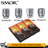 10/Bags Wholesale Original Smok DHL Fast Shiping TFV8 Baby Coil Head V8 Baby T8 Baby T6 X4 V8 Q2 Core For TFV8 BABY Beast Tank