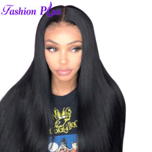 Fashion Plus Malaysian Full Lace Mänskliga Hår Paryk Malaysian Virgin Hair Straight Full Blond Paryk För Svarta Kvinnor Med Babyhår
