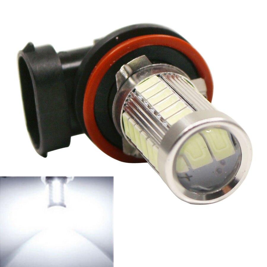 2Pcs H8 H11 LED Car Fog Light Super Bright 5630 SMD 33-LED Auto Car Head Fog Lamp Drving Lamp Bulbs White/Ice Blue 12V