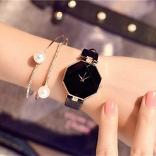 Luxury Octagon Watches Women 2018 New Fashion Casual Leather Quartz Watch Ladies Luxury Brand Dress Watch Relogio Feminino Clock brand women watch fashion leather thin belt quartz watch ladies luxury bracelet watches female clock relogio feminino joyl