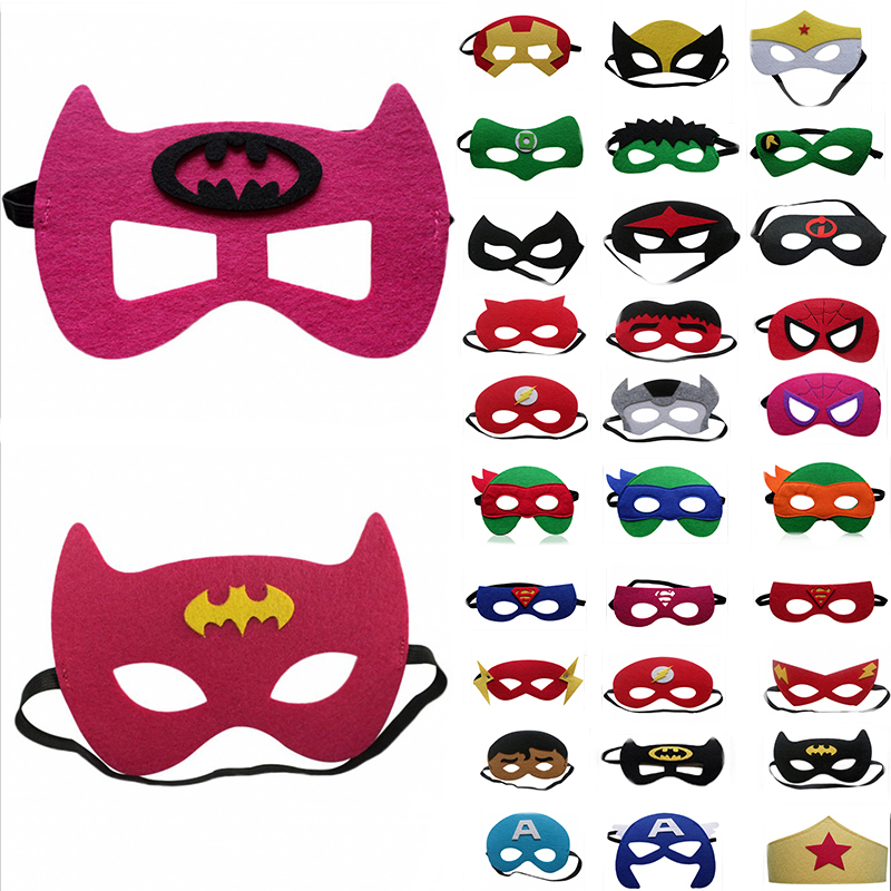 Super Hero Cosplay Mask Halloween Party Dress Up Costume Mask Kids Birthday Party Superhero Favor Gifts Free Shipping