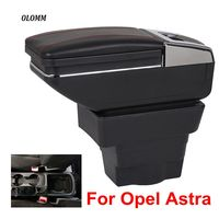 For Opel Astra Armrest Box Opel Astra J USB Charging heighten Double layer central Store content cup holder ashtray accessories