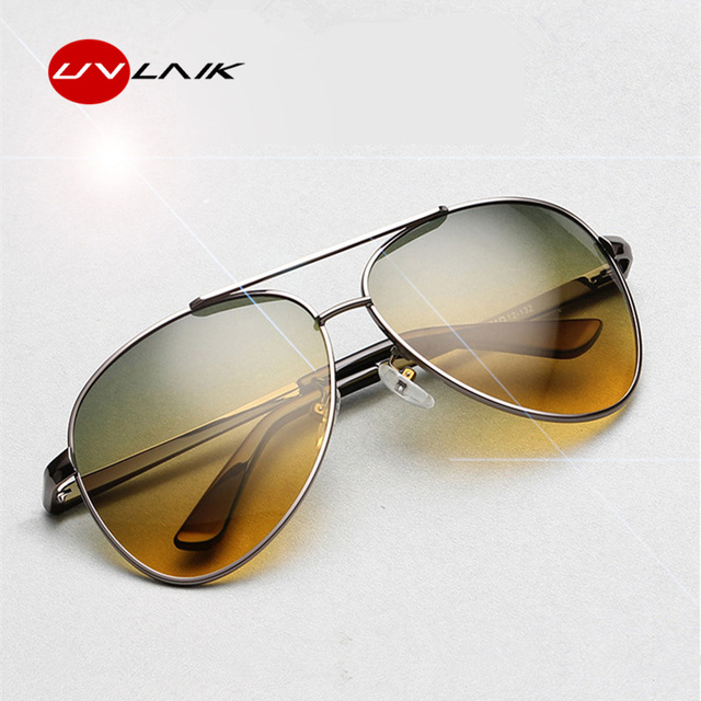 aded1121be UVLAIK Polarized Sunglasses Men Day Night Vision Driving Glasses Goggles  Women Yellow Green Lens Anti-Glare Sun glasses