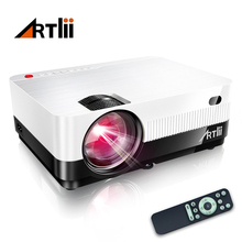 Mini Projector Home Cinema Proyector HD LED Proyector Multimedia Beamer for Movie, Gaming, Match and Party, LCD Video Projetor