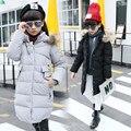 Moda Infantil Roupas de Inverno Casaco De Pele Para As Meninas Roupas de Bebê Parka Roupas Elegantes Para As Meninas Outerwear Hoodies da Pele Do Falso Luxo