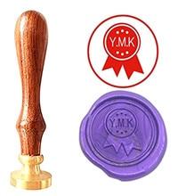 Bow Ties Monogram Vintage Custom Picture Logo Luxury Wax Seal Sealing Stamp Brass Peacock Metal Handle Gift Set