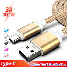0.25m 1m 1.5m 2m 3m USB Type C Cable USB C Type-C Charging Wire Cord for Samsung Galaxy A3 A5 A7 2017 A8 A9 2018 S10 A8s Cabos(China)