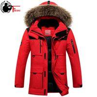 Winter Jacket Mens Windbreaker Anorak Quality White Duck Down Jacket Fur Hood Removable Long Parka Male Coat Warm Thick Overcoat