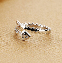 2016 new arrival high quality retro style Thai silver 925 sterling silver fish bone design unisex finger rings jewelry gift thailand imports 925 sterling silver thai silver retro lucky 13 bone stick skull ring
