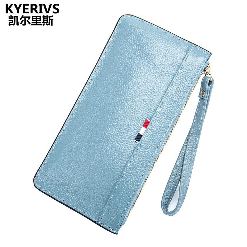 Brand Genuine Leather Wallet Female Purse Long Coin Purse Money Bag Casual Card Holder Women Wallets Fashion Purse Wallet Women women leather wallets v letter design long clutches coin purse card holder female fashion clutch wallet bolsos mujer brand