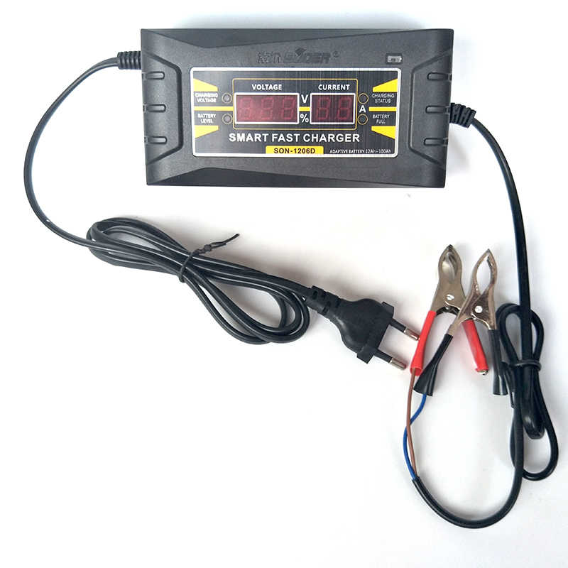 How To Charge A Car Battery Without A Charger >> Full Automatic Car Battery Charger 110v 220v To 12v 6a 10a Smart Fast Power Charging For Wet Dry Lead Acid Digital Lcd Display