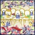 100% НАТУРАЛЬНЫЙ ШЕЛК женщин ШАРФ печати 60x60 см Квадратных платок Бренд Летние Стюардесса стиль Бесплатная доставка