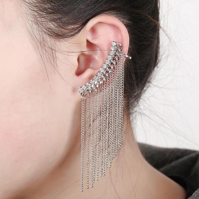 Women's Ear Cuff with Long Tassel
