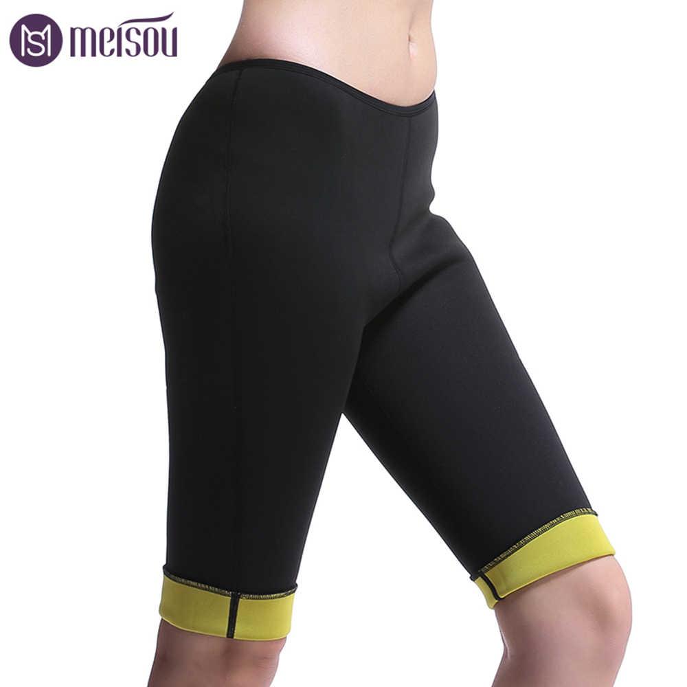 Meisou женские брюки для похудения Горячие термо неопрен Пот Сауна Тела Женские штаны стрейч контроль Трусики Burne талия тонкие брюки